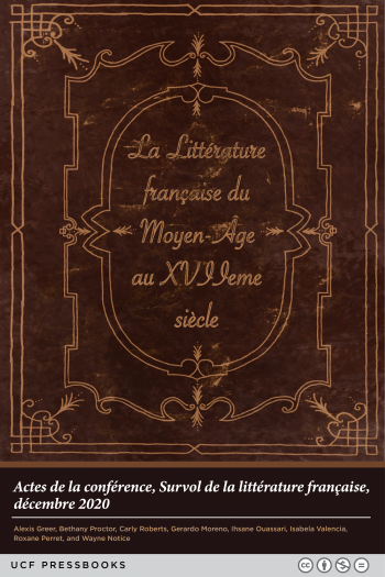 Cover image for La littérature française du moyen-âge au XVIIe siècle. Actes de la conférence.