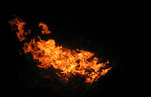 Photograph of fire.