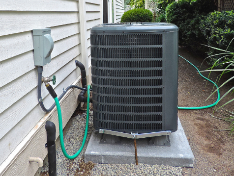 The photo shows a heat pump.