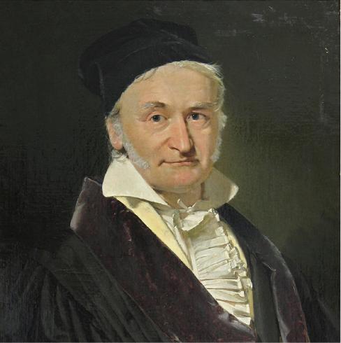 Photograph of Karl Friedrich Gauss.