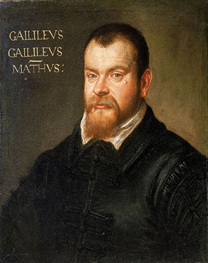 A painting of Galileo Galilei.