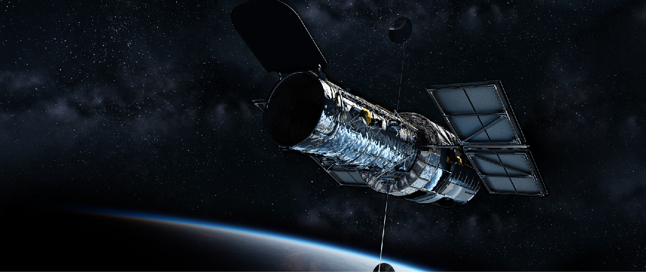 Artist's depiction of the Hubble Space Telescope