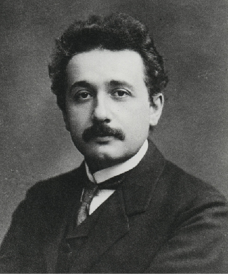 Photograph of Albert Einstein.