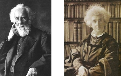 Photographs of: left (a) William Huggins, and right (b) Margaret Huggins.