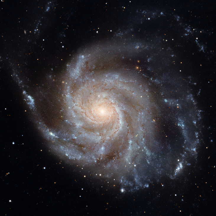 The Pinwheel Galaxy M101. A prime example of a large, face-on spiral galaxy.