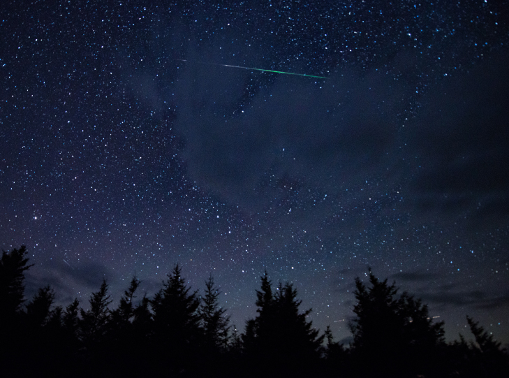 A photo of a meteor.