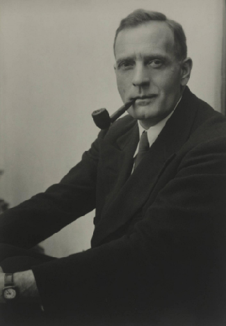Photograph of Edwin Hubble.