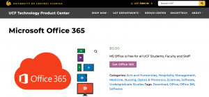 Microsoft Office 365 Download at UCF